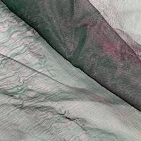 Emerald/Purple Silk Organza