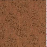 Nutmeg Brown Floral Faille Jacquard