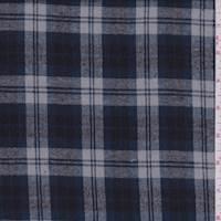 *3 YD PC--Grey/Midnight Plaid Flannel