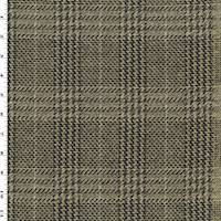*3 5/8 YD PC--Brown/Beige/Multi Wool Glen Plaid Jacketing