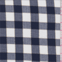 *2 5/8 YD PC--Natural/Navy Check Flannel Shirting