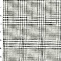 *1 5/8 YD PC--Black/Ivory/Multi Wool Plaid Suiting