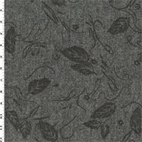 *5 YD PC--Grey/Brown Wool Blend Printed Tweed