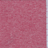 *2 YD PC--Coral Red/Pink Sweater Knit