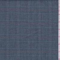 *1 YD PC--Cadet Blue Glen Plaid Cotton Suiting
