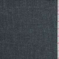 *3 3/8 YD PC--Hunter Green/Black Coated Linen