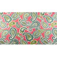 *1 YD PC--Designer Cotton Pink/Multi Paisley Print  Decorating Fabric