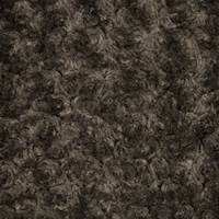 Brown Swirl Texture Faux Fur Knit