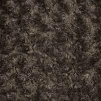 Brown Swirl Texture Faux Fur Knit
