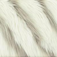 Taupe/Ivory High Pile Diagonal Faux Fur Knit
