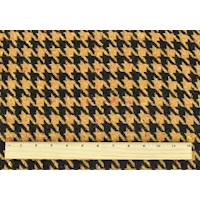 *4 YD PC--Mustard Yellow/Brown Wool Blend Houndstooth Jacketing