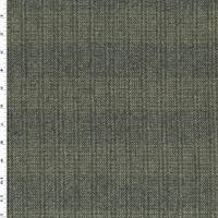 *1 3/8 YD PC--Taupe/Green/Multi Wool Stripe Twill Jacketing