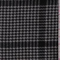 Black/Stone Houndstooth Check Coating