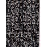Black/Taupe Aztec Stripe Liverpool Knit