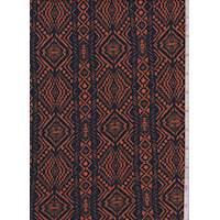 Navy/Orange Aztec Stripe Liverpool Knit
