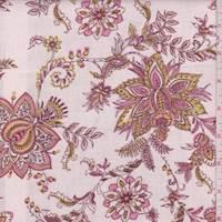 Whisper Pink Stylized Floral Linen Blend