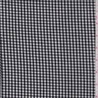 Black Gingham Check Cotton Shirting
