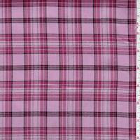 Dusty Pink Plaid Flannel Suiting