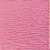 Day Glo Pink Ruched Nylon