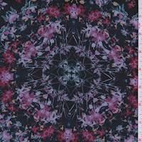 Black Multi Floral Medallion Chiffon