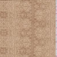 *1 3/4 YD PC--Camel Wallpaper Stripe ITY Jersey Knit