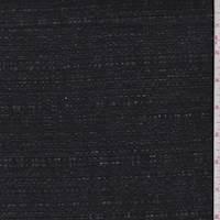 Ash Black Linen Blend Boucle