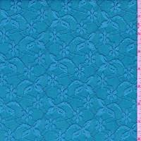 Aquamarine Floral Lattice Jacquard Mesh