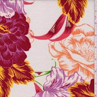 Ivory/Berry Peony Floral Liverpool Knit
