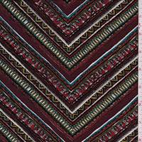 Maroon Multi Deco Chevron Liverpool Knit
