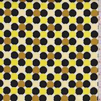 Lemon/Black/Gold Dot Cotton Sateen