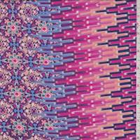 Purple/Peach/Pink Kaleidoscope Rayon Challis