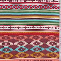 Copper Multi Southwest Stripe Rayon Challis