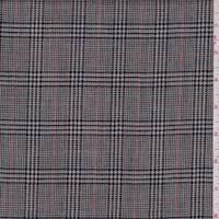 Ecru/Navy Glen Plaid Wool Suiting
