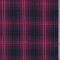 *2 3/4 YD PC--Berry Plaid Cotton Shirting