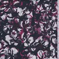 Black/Plum/White Abstract Sateen