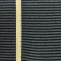 *7/8 YD PC--Black/Gray Stripe Double Knit