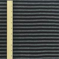 *3/4 YD PC--Black/Gray Stripe Double Knit
