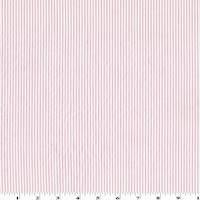 *3 YD PC--White/Pastel Pink Cotton Stripe Dobby Shirting