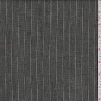 *1 YD PC--Forest/Grey Pinstripe Linen