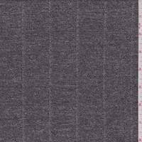 *1 YD PC--Heather Black Stripe Mini Rib Sweater Knit