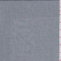 Heather Grey/Navy Pinstripe Cotton Shirting