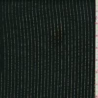 Black/Gold Pinstripe Linen Blend