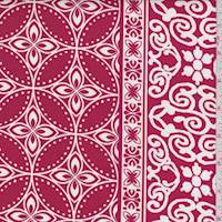 Red/White Circular Medallion Cotton