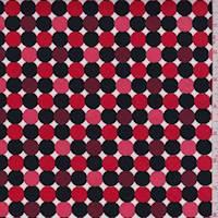 Red/Coral/Black Polka Dot Sateen