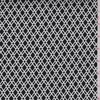 Black/White Diamond Lattice Sateen