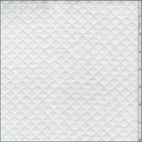 *1 YD PC--White Diamond Quilted Knit