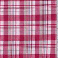 *2 3/4 YD PC--Red/White/Tan Plaid Flannel