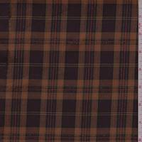 Cognac/Port Plaid Flannel Suiting
