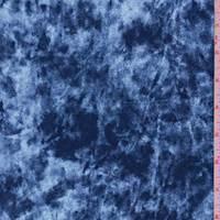 Silver Blue Panne Velvet Knit
