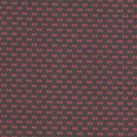*3 YD PC--Black/Red Backed Knit